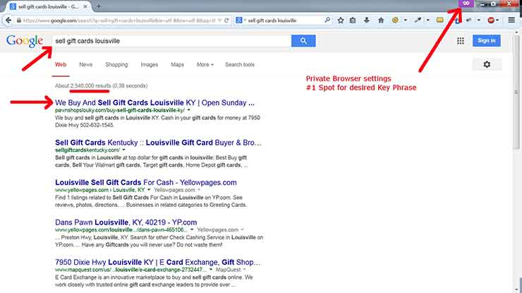 SEO case studies Screenshot Pawn 3