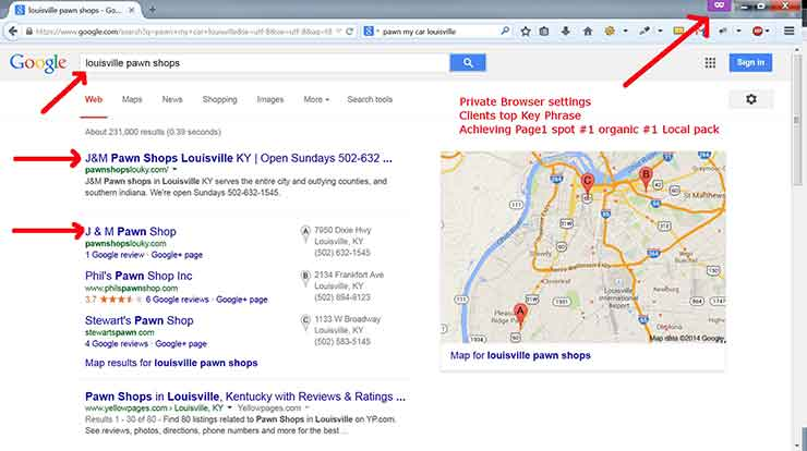 SEO case studies Screenshot Pawn 1