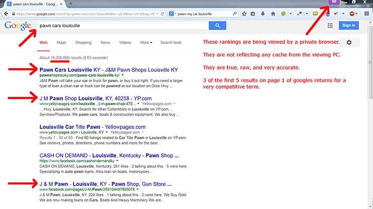 SEO case studies Screenshot Pawn 2